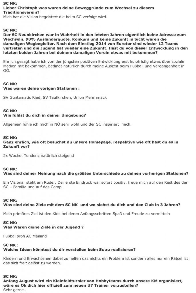 Sommergespräch Christoph Prinstinger