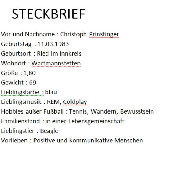 Steckbrief Christoph